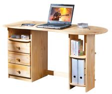 Bureau meuble informatique grand plateau avec niche rangement spacieux PIN