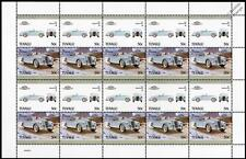 1954 SUNBEAM ALPINE Car 20-Stamp Sheet / Auto 100 Leaders of the World