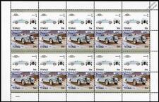 1954 SUNBEAM ALPINE Car 20-Stamp Sheet / Auto 100 Leaders of the World