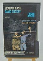Graham Nash/David Crosby- Self Titled Cassette Atlantic Records #ATLM57220/1972