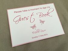 Handmade Personalised Christening Baptism Please Sign My Guest Book Sign