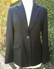 NWT BLACK FITTED BLAZER CAREER SUIT JACKET LINED LARRY LEVINE WOMEN'S 10P PETITE