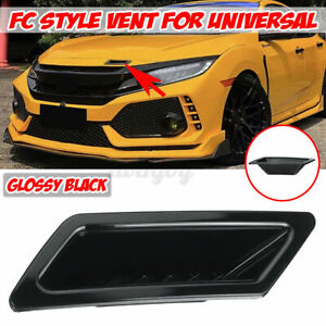 For Honda Civic 16-2021 Gloss Black Front Bumper Air Vent Intake Duct Left Side