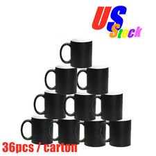 Usa 36pcs Black Matte Magic Cup 11oz Blank Sublimation Full Color Changing Mugs