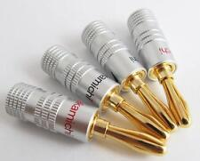 10x Nakamichi Gold Plated Copper Speaker Banana Plug Male Connector High-quality