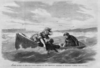 MISS IDA LEWIS HEROIC ACTION RESCUE OF TWO DROWNING SOLDIERS IN NEWPORT HARBOR
