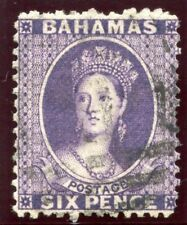 Bahamas 1863 QV 6d deep violet very fine used. SG 31. Sc 14.