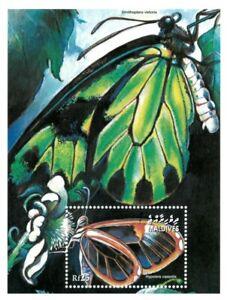 MODERN GEMS - Maldives - Hypolera Cassotis Moth - S/S - MNH