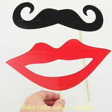 Oversized Lip and Moustache Photo Booth Props | Wedding Party Fully Assembled