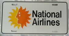 National Airlines Advertising Car Truck License Plate Vintage Airplane Aviation