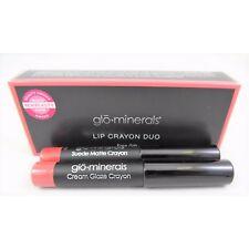 Glo Minerals Lip Crayon Duo Suede Matte Crayon Cream Glaze Crayon NEW Tester