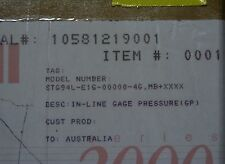 NEW HONEYWELL ST3000 STG94L E1G 00000 4G MB B77P  0-125 PSI Pressure Transmitter