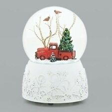 Roman 1948 Ford F-1 Truck Musical Glitterdome Snow Globe 100Mm White Base