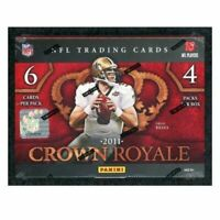 2011 PANINI CROWN ROYALE FOOTBALL FACTORY SEALED HOBBY BOX FREE SHIPPING