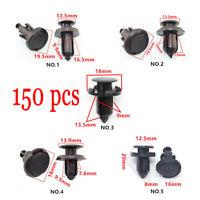 150pc 5 Model Auto Plastic Fasteners Snap Push Screw Rivet Panel Fixings Clips