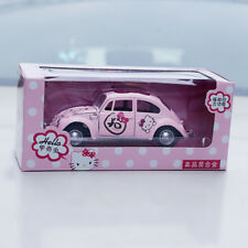 1x Pink Hello Kitty Cute Mini Alloy Car Model Toys Back-to-Power Kid's Gifts
