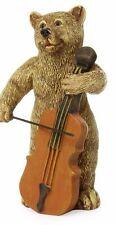 Bear Playing Cello MG 249  Miniature Fairy Garden Miniature Music