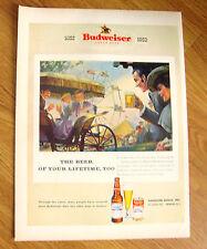 1952 Budweiser Beer Ad Good Old Days County Fair