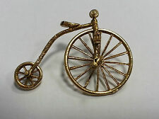 Vintage 9ct gold charm Penny Farthing bicycle
