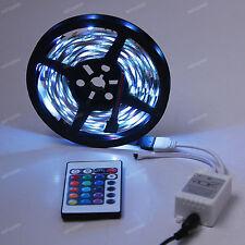 5M 5050 SMD DJ Strip lights 150 LED RGB + 24 IR Remote Car LEDs Lamp Bulb