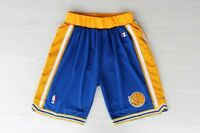 Golden State Warriors Throwback  Basketball Stitched Shorts Blue