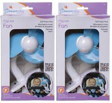 Dreambaby Stroller Fan, White/Blue - 2 Count