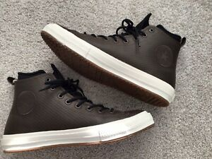 Converse All Star Chuck Taylor Counter Climate leather waterproof hi boots EUC