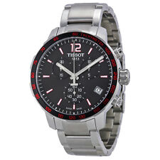 Tissot Quickster Chronograph Black Dial Stainless Steel Mens Watch-AU