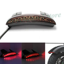 Motorcycle Fender Chopped 12V LED Brake Stop Tail Light For Harley Bobber Smoke