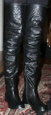 JEFFREY CAMPBELL THE WARFARE BOOT IN QUILTED BLACK SIZE 6