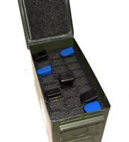 Precut military Foam fits 50cal .50 50 cal caliber Ammo Can holds 24 magazines