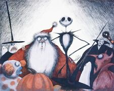 The Nightmare Before Christmas Signed Limited Art Print Tim Burton Signed 1993