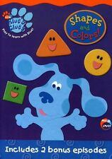 Blue's Clues: Shapes and Colors (2003, DVD NIEUW)
