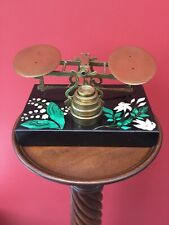 Ultra Rare Antique Sampson Mordan Brass Balance Postal Scales C 1860 Pietra Dura