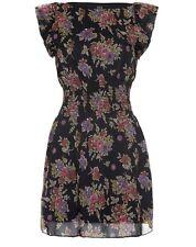 ISKA Floral print frill dress RA571 Ladies UK Size 8 Box12 23 O