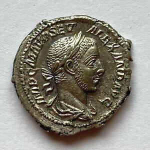 Roman Empire: Severus Alexander, AR Denarius, 222-235 AD - Alexander standing