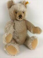 "Authentic Steiff Honey Teddy Bear 15"" Plush Stuffed Animal Jointed 0201/41 Vtg"