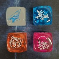 Yu-Gi-Oh! Legendary Duelists Season 2 Set of 4 Blue-Eyes Tiger Harpie D6 Dice