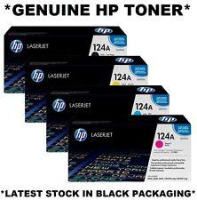 4 x HP Genuine/Original Colour 124A SET Toner Q6000A,Q6001A,Q6002A,Q6003A 2600