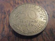 50 centimes marianne bronze-alu 1962 3 plis