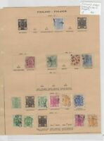 Finland Early Stamps On 2 Pages Ref: R7272