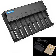 Universal 8-Slots Li-ion 18650 14500 AA AAA Smart Battery Charger 5V USB Output