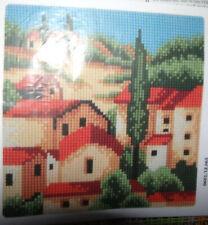 Kit canevas coussin Vervaco neuf point de croix tapisserie 40 X 40 cm paysage