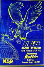 Eagles Aloha Stadium & Jimmy Buffett 1979 2Nd Print - Scarce
