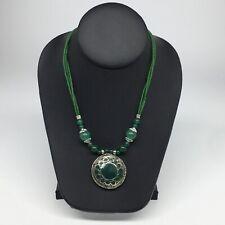 Tribal Fashion Green Pendant Vs191 Turkmen Necklace Beaded Afghan Ethnic Kuchi