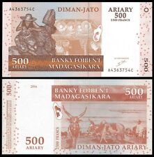 Madagascar 500 Ariary 2004 P 88a UNC