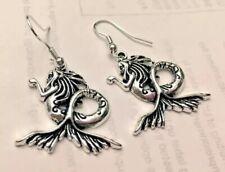 Mermaid charm earrings,sea Charm Earrings,beach Charm,fish Charm,nautical