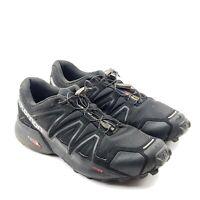 Salomon SpeedCross 4 Wide Sensfit Mens Black Trail Running Shoes 9 UK 8.5 EUR 42