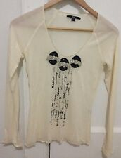 Hugo Boss Black Label Long Sleeve Silk Cream Top Blouse S