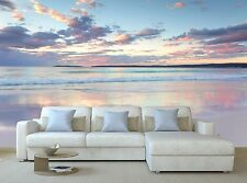 Wall Mural Paper Pretty pastel dawn sunrise 3D Poster Print Tapestry Photo Decor